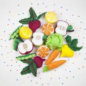 Набор из 8 овощей и фруктов для игры