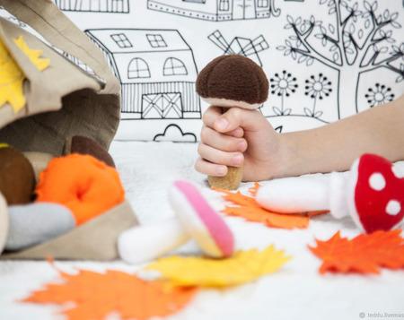 """Развивающие игрушки """"Грибы"""" ручной работы на заказ"""