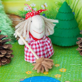 Пальчиковая игрушка Баба Яга