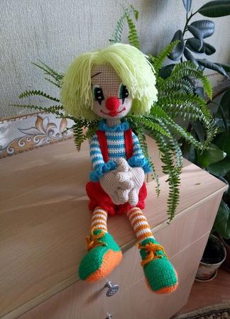 Кукла клоун ручной работы на заказ