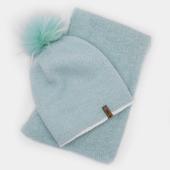 Комплект - шапка и шарф из ангоры