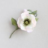 """Брошь цветок ручной работы из фоамирана """"Мак белый"""""""