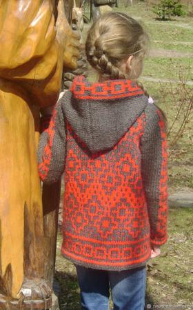 Куртка вязаная детская ручной работы на заказ