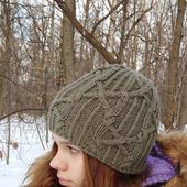 Комплект вязаный шапка и снуд