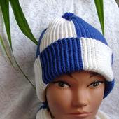 Комплект мужской шапка и шарф Фанат Динамо