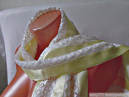 """Золотистый кружевной палантин ручной работы """"Брызги шампанского"""" модель 2 ручной работы на заказ"""