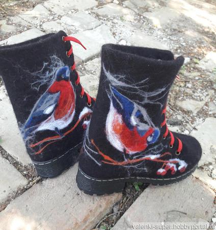 """Ботинки """"Снегири"""" ручной работы на заказ"""