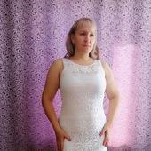 Ажурное платье вязанное крючком