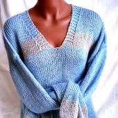 Мохеровый свитер с V-образным вырезом в Москве