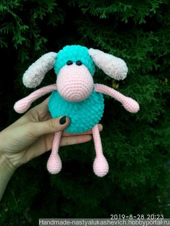 Плюшевая овечка ручной работы на заказ