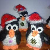 Игрушки: совята и пингвинчики вязаные