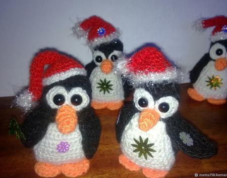 Игрушки: совята и пингвинчики вязаные ручной работы на заказ