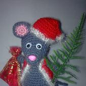 Мышь вязаный и сшитый новогодний крысенок