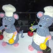 Вязаная Мышь и Крыса Поваренок