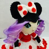 Интерьерная кукла в костюме мышки Мини