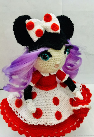 Интерьерная кукла в костюме мышки Мини ручной работы на заказ