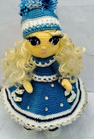 """Интерьерная куколка """"Снегурочка"""" ручной работы на заказ"""