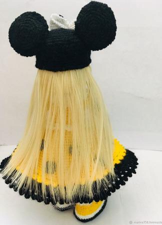 Интерьерная кукла Мини маус ручной работы на заказ