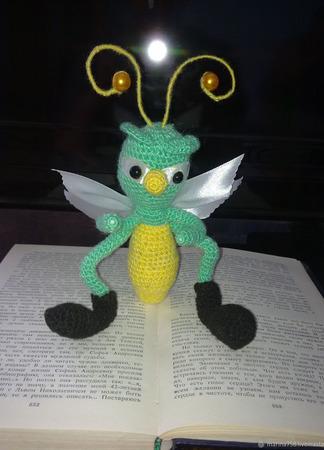 """Закладки для книг """"Веселые насекомые и лягушка"""" ручной работы на заказ"""