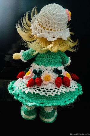Интерьерная ягодная кукла Анечка ручной работы на заказ
