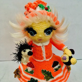 "Интерьерная вязаная кукла ""Осень"""