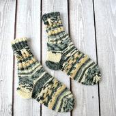 Детские плотные шерстяные носки ручной вязки из износостойкой пряжи