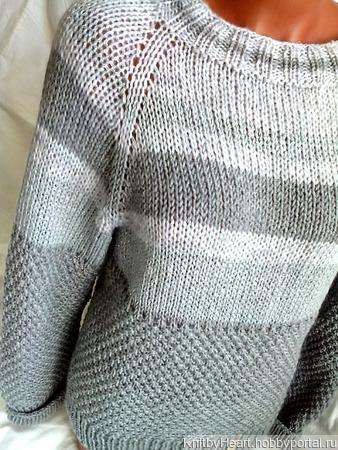 """Вязаный свитер """"STAR"""" ручной работы в Москве ручной работы на заказ"""