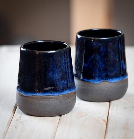 Стакан из каменной керамики ручной работы на заказ