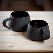"""Набор посуды """"Искренность"""" в черном цвете"""