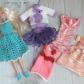 Набор вязаной одежды  для Барби