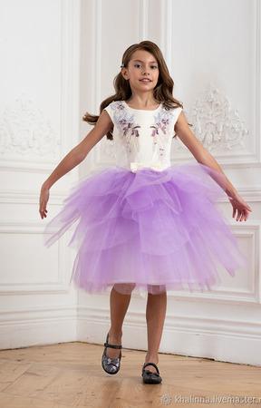 """Платье """"Лаванда"""" суперпышное ручной работы на заказ"""