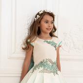 """Платье """"Айвори"""" с бирюзой"""