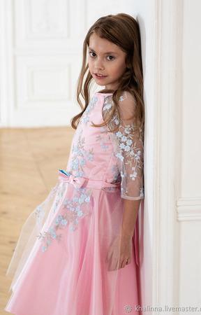 """Платье """"Весна"""" розовое ручной работы на заказ"""