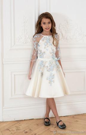 """Платье """"Весна"""" айвори ручной работы на заказ"""