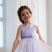 Платье белое, лиловое, розовое пышное