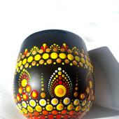 Кружка керамическая с росписью