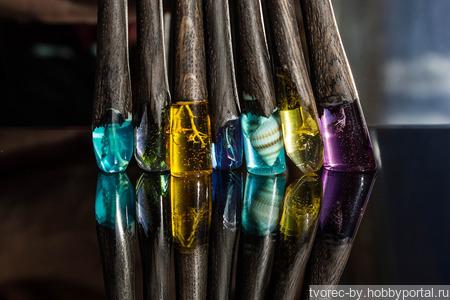 Заколки-палочки в волосы ручной работы на заказ