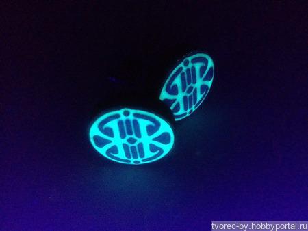 Запонки со светящиися инициалами или лого ручной работы на заказ
