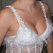 Платье на бретелях крючком