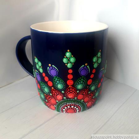 Кружка фарфоровая с росписью ручной работы на заказ