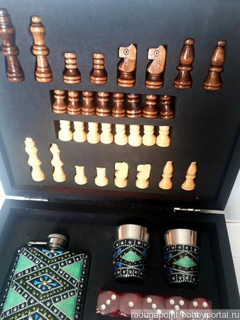Набор игр в шкатулке ручной работы на заказ