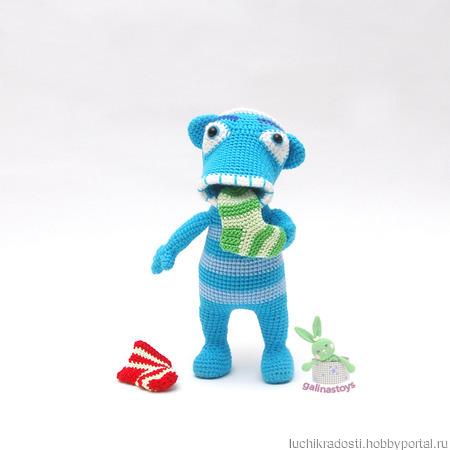 Вязаная игрушка Носкоед Хихиш ручной работы на заказ