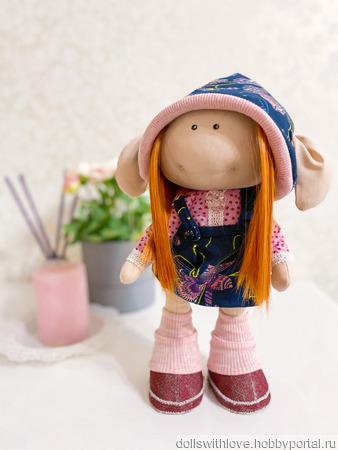 Кукла интерьерная текстильная ручной работы на заказ