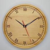 Часы настенные из бука. ЧБ6