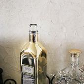 Бутылка квадратная золотое напыление