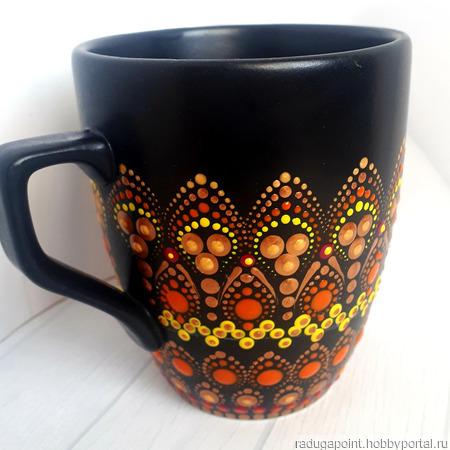 Кружка керамическая с росписью ручной работы на заказ