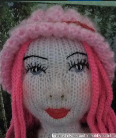 Кукла девушка с розовыми волосами ручной работы на заказ