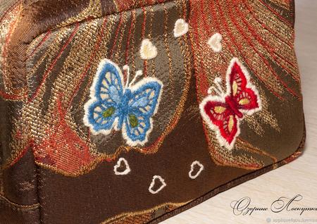 """Косметичка  """"Бабочки"""" ручной работы на заказ"""