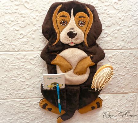 Собачка с кармашком - для мелочей ручной работы на заказ