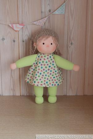 Куколка в пришивном комбинезончике ручной работы на заказ